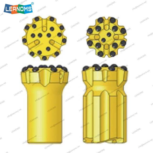 Brocas de botón de perforación de rosca ST68 normal o retrac de 115-152 mm